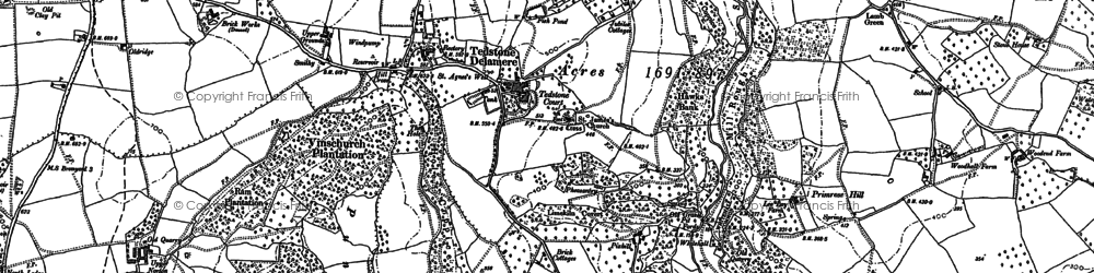 Old map of Tidbatch in 1902