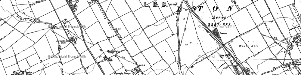 Old map of Teesville in 1893