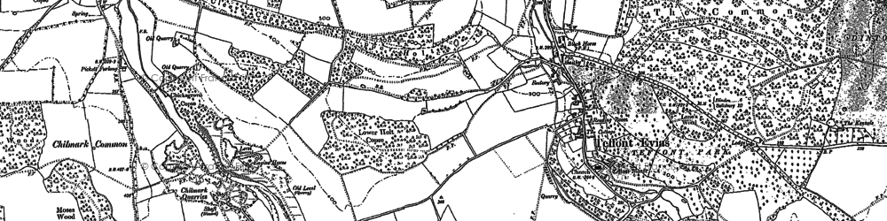 Old map of Wick Ball Camp in 1899