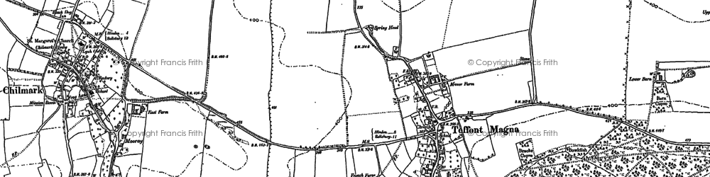 Old map of Teffont Magna in 1899