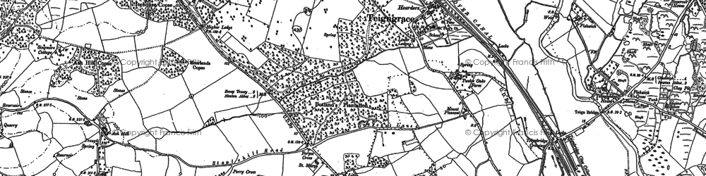 Old map of Leygreen in 1887