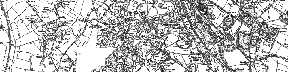 Old map of Telford in 1882