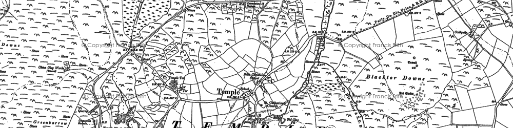 Old map of Tiptreehall in 1881