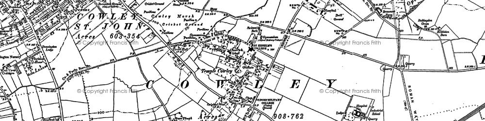 Old map of Blackbird Leys in 1897