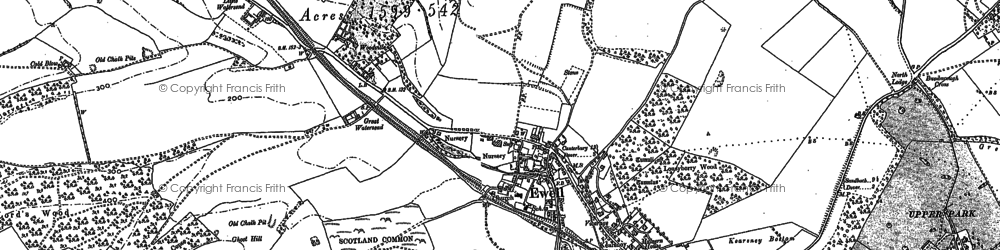 Old map of Woodville in 1896