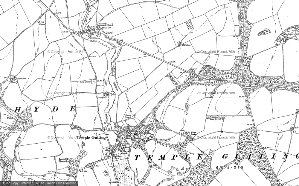 Old Map of Historic Map covering Leigh Wood in 1883