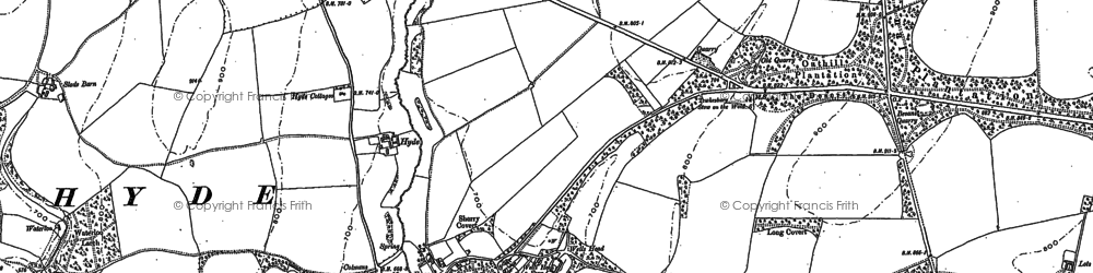 Old map of Leigh Wood in 1883