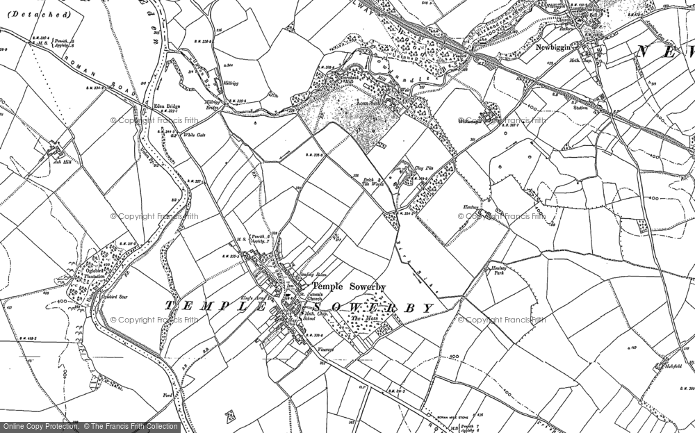 Old Map of Historic Map covering Acorn Bank in 1897