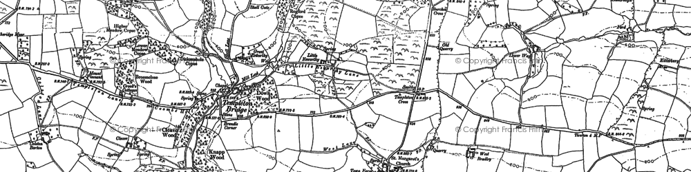 Old map of West Bradley in 1887