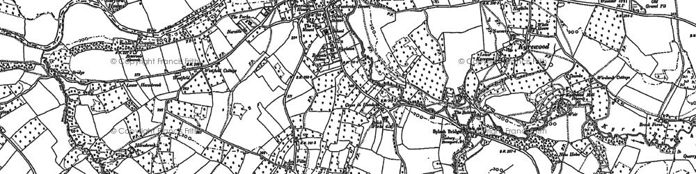 Old map of Tenbury Wells in 1902