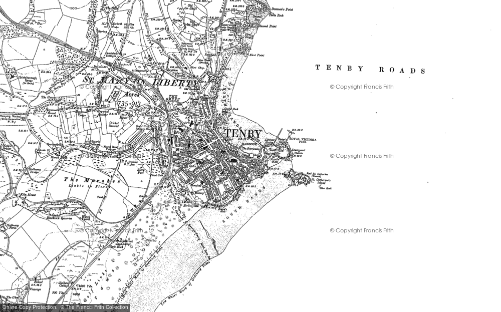 Old Map of Tenby, 1887 - 1906 in 1887