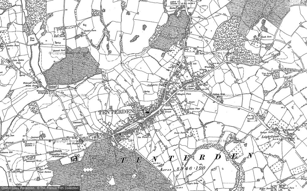 Old Map of Tenterden, 1895 - 1897 in 1895