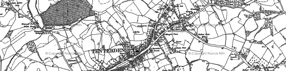 Old map of Tenterden in 1895