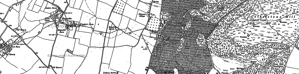 Old map of West Bagborough in 1887