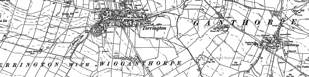 Old map of Terrington in 1889