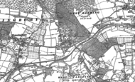 Old Map of Teston, 1895 - 1896