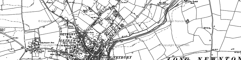 Old map of Tetbury in 1881