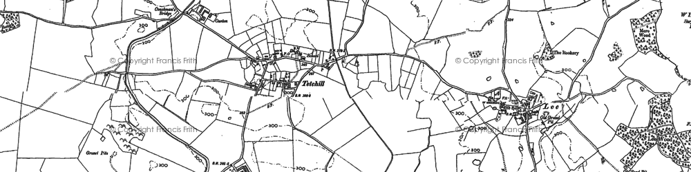 Old map of Winston in 1874