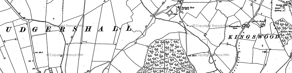 Old map of Tittershall Wood in 1898