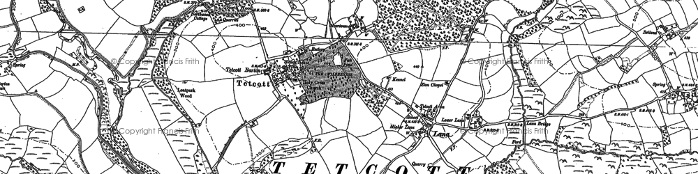 Old map of Yendon in 1883