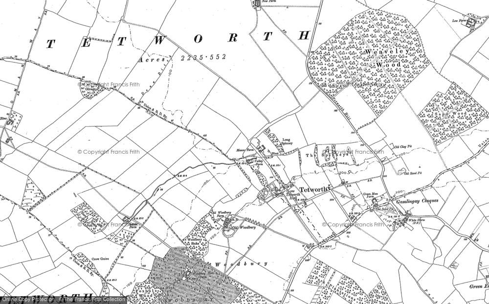 Old Map of Historic Map covering White Wood in 1900