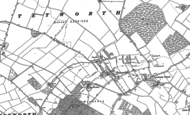 Old Map of Tetworth, 1900