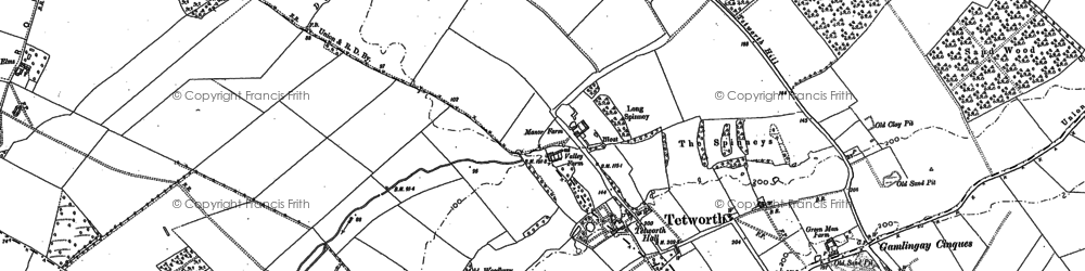 Old map of White Wood in 1900