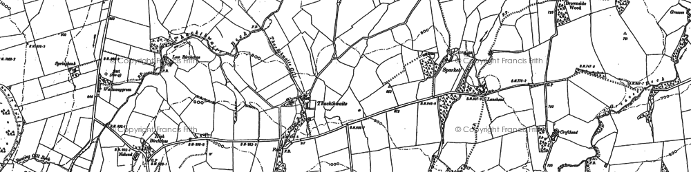 Old map of Tongue in 1898