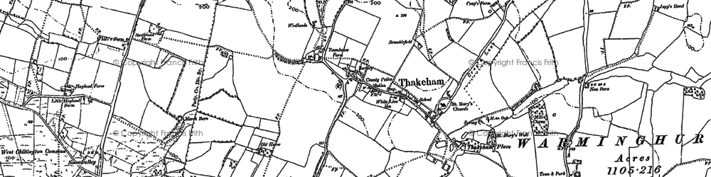 Old map of Abingworth in 1896