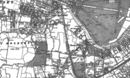 Old Map of Thames Ditton, 1895