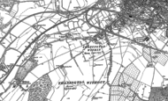 Old Map of Thanington, 1896
