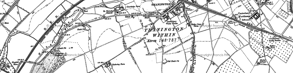 Old map of Larkey Valley Wood in 1896