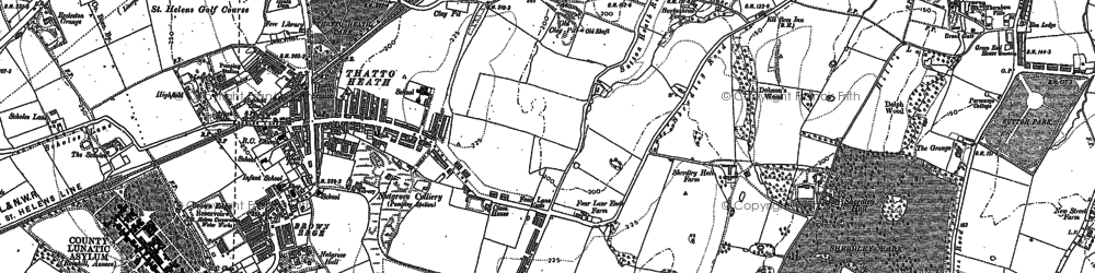 Old map of Lea Green in 1891