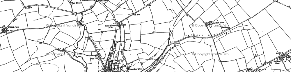 Old map of Bardfield End Green in 1876