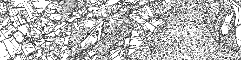 Old map of The Bourne in 1913