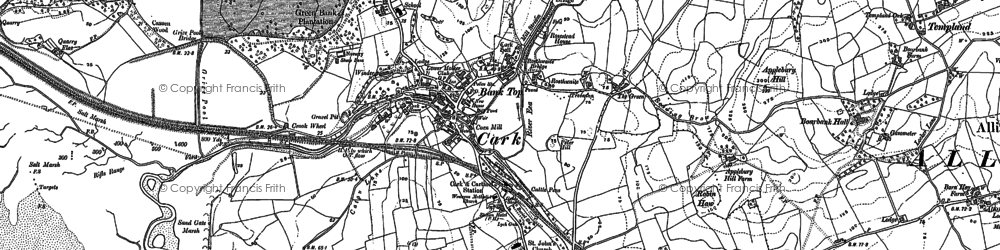 Old map of Cark in 1847