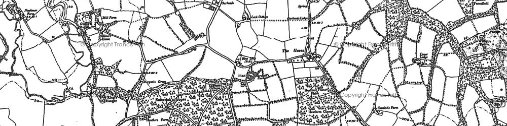 Old map of Gibbons Mill in 1896