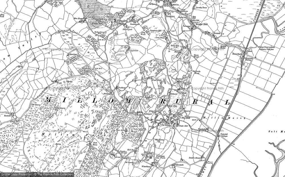 Old Map of Historic Map covering Woods in 1922