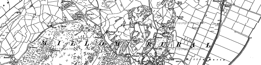 Old map of Woods in 1922