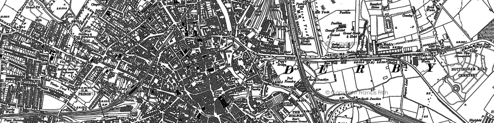 Old map of The Holmes in 1882