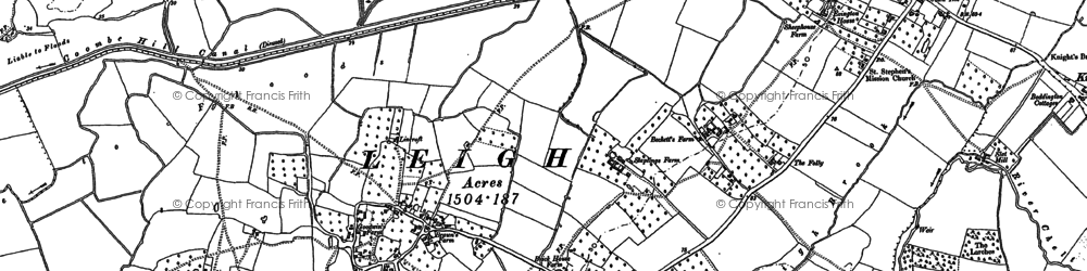 Old map of Leigh End in 1883