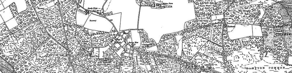Old map of The Sands in 1913