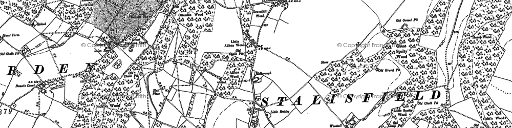 Old map of Woodsell in 1896