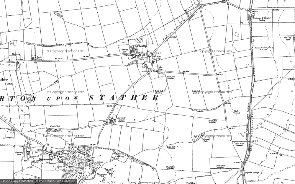 Old Map of Historic Map covering Barkers Holt in 1906