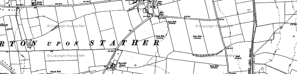 Old map of Barkers Holt in 1906
