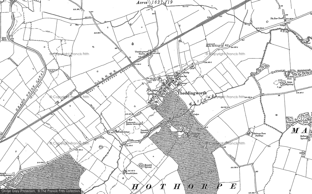 Old Map of Theddingworth, 1899 - 1902 in 1899