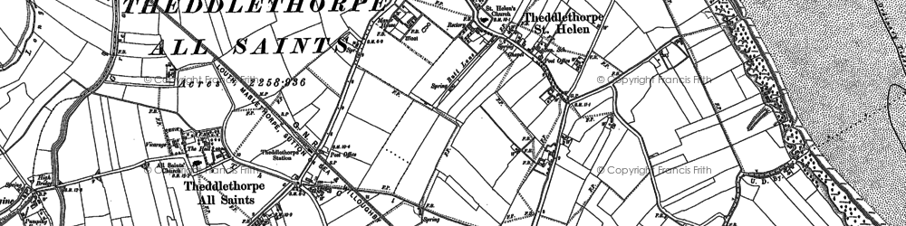 Old map of Will Row in 1888