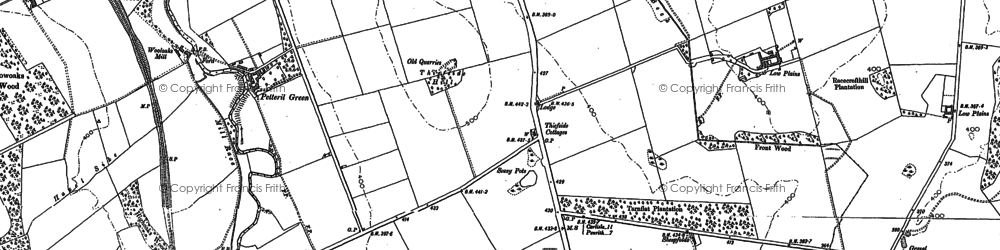 Old map of Aikbank Common in 1898