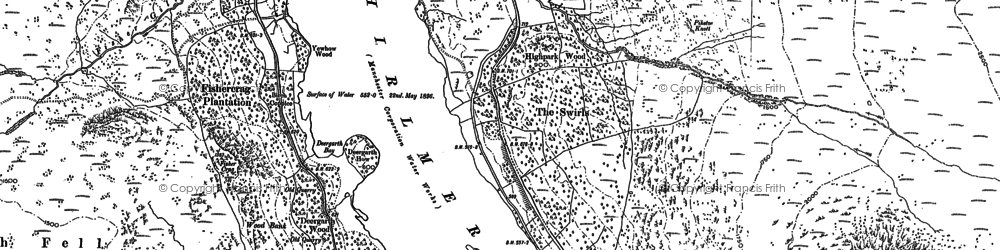 Old map of Thirlmere in 1898