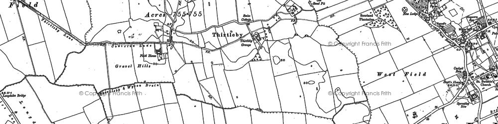 Old map of Wycliffe Plantn in 1889